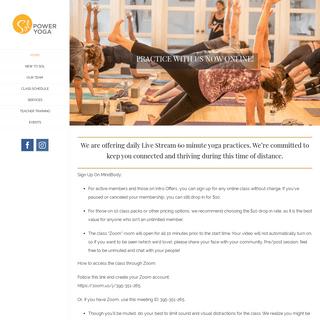Sol Power Yoga - Baptiste Power Vinyasa Yoga - Bedford, NH