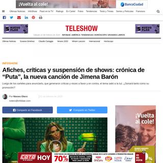 """Afiches, críticas y suspensión de shows- crónica de """"Puta"""", la nueva canción de Jimena Barón - Infobae"""