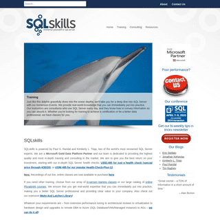 SQLskills.com - Immerse Yourself in SQL Server