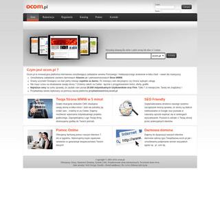 Platforma oCom.pl - Twoja strona w 5 minut. Rozdajemy darmowe domeny internetowe - aliasy www. Intuicyjny system CMS.
