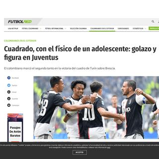 VIDEO GOL GRATIS de Juan Guillermo Cuadrado en Juventus vs Brescia Serie A 2020 - Colombianos en el Exterior - Futbolred