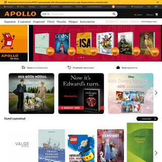Raamatud, E-raamatud, Kingitused, Filmid, Mängud, Muusika - Apollo