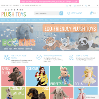 Plush Toys – Shop the Largest Collection of soft Toys Online - Stuffed With Plush Toys