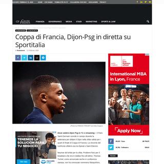 ArchiveBay.com - www.calcioefinanza.it/2020/02/12/dove-vedere-dijon-psg-in-tv-e-streaming/ - Coppa di Francia, dove vedere Dijon Psg in Tv e streaming