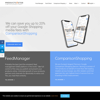 Product Feed Management - Optimisation & Publishing Software - Productcaster