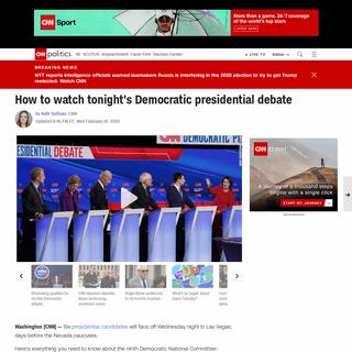 ArchiveBay.com - www.cnn.com/2020/02/19/politics/how-to-watch-democratic-debate/index.html - How to watch the Democratic debate- Time, channels, candidates - CNNPolitics