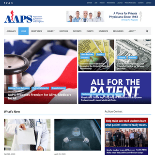 HOME - AAPS - Association of American Physicians and Surgeons