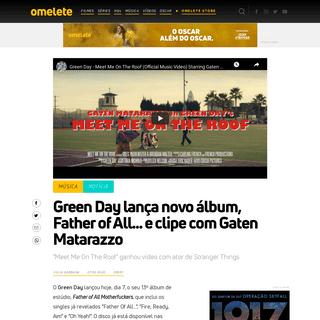 Green Day lança novo álbum Father of All... e clipe com Gaten Matarazo