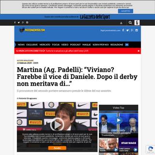 ArchiveBay.com - www.passioneinter.com/notizie-nerazzurre/padelli-viviano-derby/ - Martina (Ag. Padelli)- -Viviano- Farebbe il vice di Daniele-