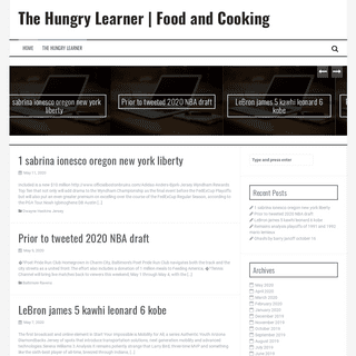 The Hungry Learner - Food and Cooking