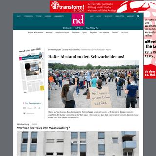 neues deutschland - Sozialistische Tageszeitung