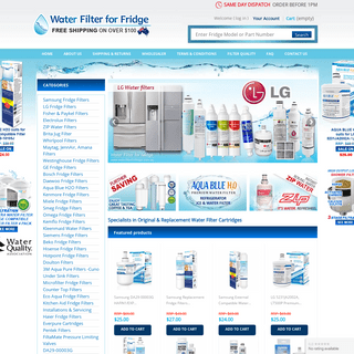 Water Filters & Fridge Filter Cartridges - Water Filter For Fridge