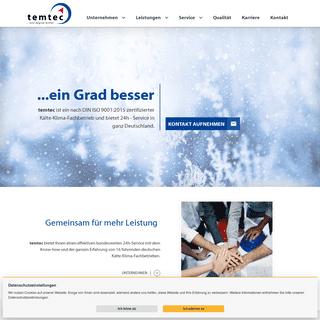 temtec Kälte-Klima GmbH - Gemeinschaftsunternehmen führender Kälte-Klima-Fachbetriebe