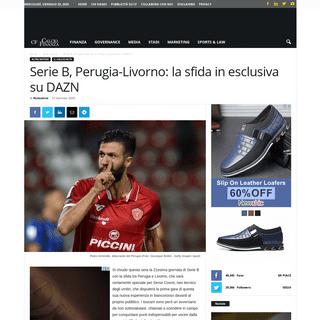 Serie B, Perugia-Livorno- la sfida in esclusiva su DAZN - Calcio e Finanza
