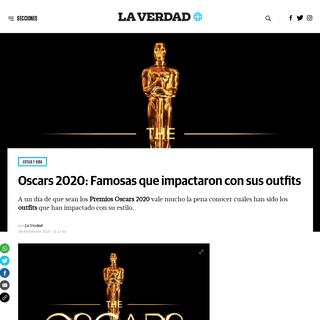 Oscars 2020- Famosas que impactaron con sus outfits - La Verdad Noticias