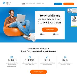 smartsteuer ⇒ Steuererklärung 2019 einfach online selber machen!
