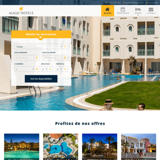 Magic Hôtel - Magic Hôtels & Resorts - Réservation Hôtel Tunisie