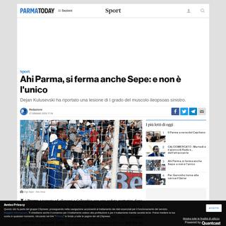 Ahi Parma, si ferma anche Sepe- e non è l'unico