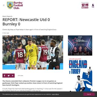 REPORT- Newcastle Utd 0 Burnley 0 - News - Burnley Football Club