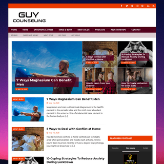 Men's Issues, News, Health & Lifestyle Blog - Guy Counseling