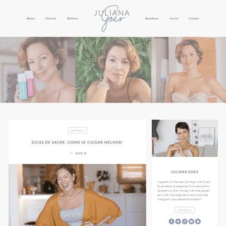 Juliana Goes - Dicas de Beleza, Saúde e Lifestyle