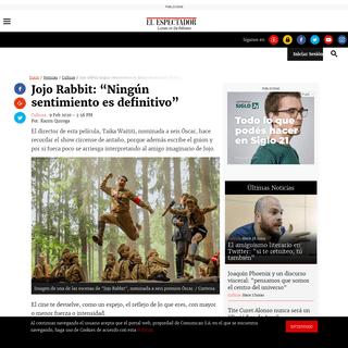 """Jojo Rabbit- """"Ningún sentimiento es definitivo"""" - ELESPECTADOR.COM"""