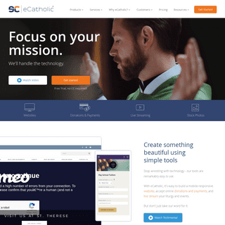eCatholic - Catholic Website Design - Online Giving - Live Streaming