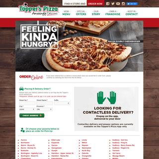 Topper's Pizza - Order Online
