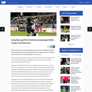 Jong Ajax geeft het helemaal weg tegen NAC, zorgen om Mazraoui - Voetbalprimeur