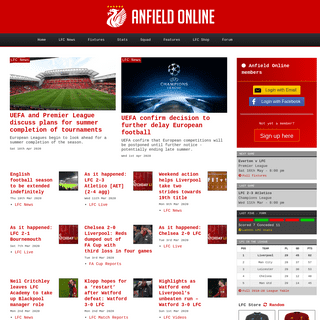 Anfield Online - Liverpool FC website