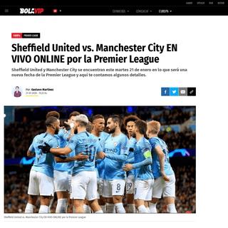 Sheffield United vs. Manchester City EN VIVO ONLINE por la Premier League - Bolavip