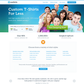 Custom T-Shirts - T-Shirt Printing & Design - ooShirts