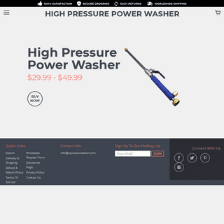 High Pressure Power Washer – HIGH PRESSURE POWER WASHER