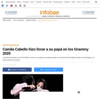 Camila Cabello hizo llorar a su papá en los Grammy 2020 - Infobae