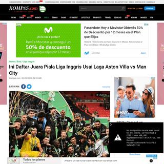 Ini Daftar Juara Piala Liga Inggris Usai Laga Aston Villa vs Man City Halaman all - Kompas.com