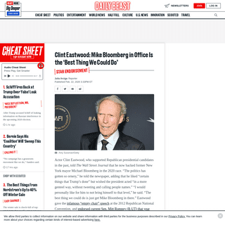 ArchiveBay.com - www.thedailybeast.com/clint-eastwood-says-getting-mike-bloomberg-in-office-is-the-best-thing-we-could-do - Clint Eastwood- Mike Bloomberg in Office Is the 'Best Thing We Could Do'
