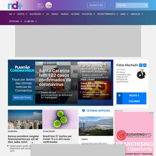 ND Mais - Notícias do Dia - Grupo ND (Santa Catarina - SC)