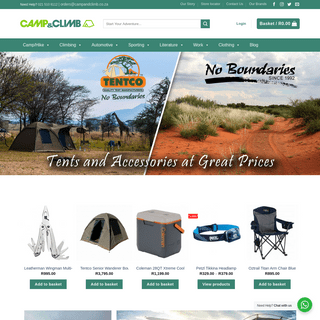 Online Camping Store - Camping Equipment - Camp and Climb