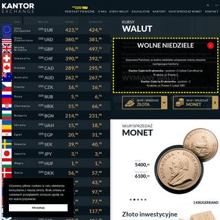 Kantor Kraków - Kantor-Exchange - aktualne Kursy walut Krakow - wymiana, kursy walut Kraków, tabele kursów