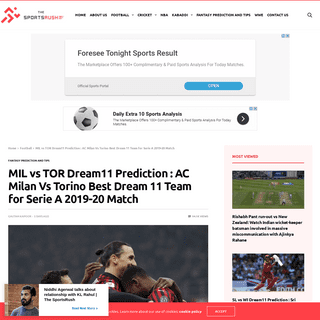 ArchiveBay.com - thesportsrush.com/mil-vs-tor-dream11-prediction-ac-milan-vs-torino-best-dream-11-team-for-serie-a-2019-20-match/ - MIL vs TOR Dream11 Prediction - AC Milan Vs Torino Best Dream 11 Team for Serie A 2019-20 Match - The SportsRush