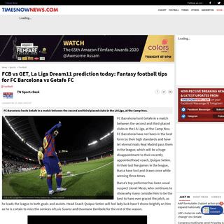Dream11 team prediction FCB vs GET- FC Barcelona vs Getafe FC playing 11 team today's match - Dream 11 Fantasy Football Team