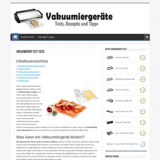 Vakuumierer Test 2020 - Folienschweißgerät und Vakuumiergerät Test