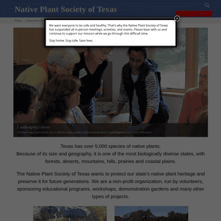 About - Native Plant Society of Texas