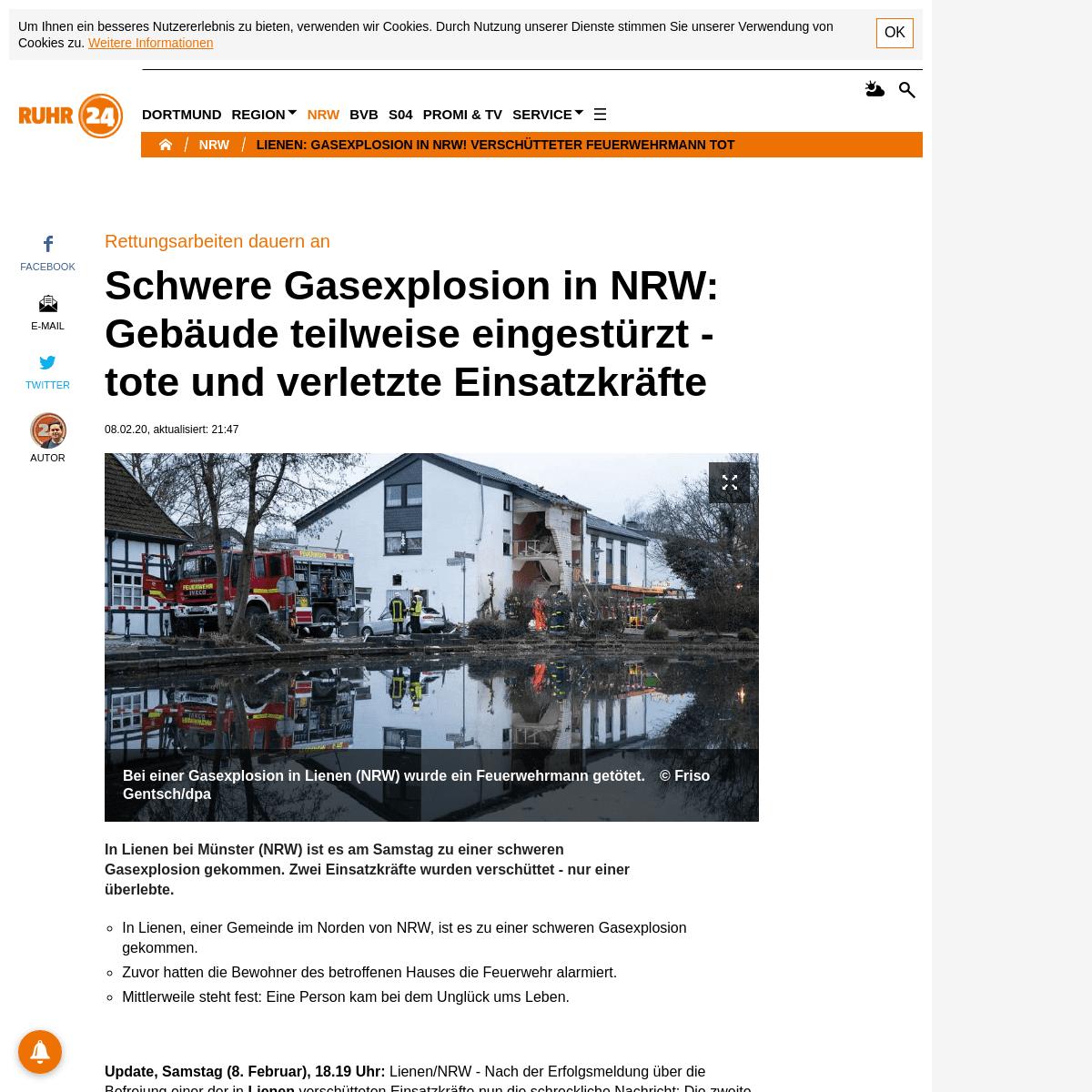 Gasexplosion In Lienen