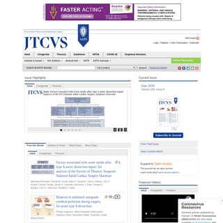 Home Page- The Journal of Thoracic and Cardiovascular Surgery