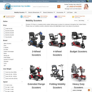 Mobility Scooters - Handicap Scooters - Medical Scooters – Scooters 'N Chairs®