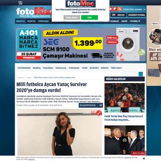 Milli futbolcu Aycan Yanaç Survivor 2020'ye damga vurdu! - Son dakika Spor Magazin haberleri, fotoğrafları - Fotomaç