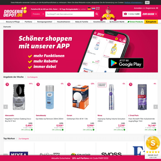 Jetzt Online Bestellen! ab 40 Versandkostenfrei Drogeriedepot.de