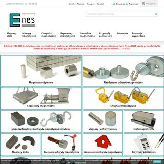 ArchiveBay.com - magnesy.eu - Enes Magnesy - sklep - Magnesy neodymowe, magnes neodymowy, uchwyty magnetyczne, uchwyt magnetyczny, magnesy stałe, magnes, chw