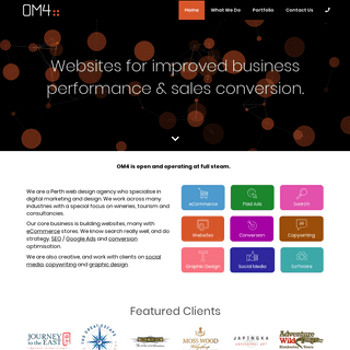 WordPress & WooCommerce Web Design in Perth - OM4